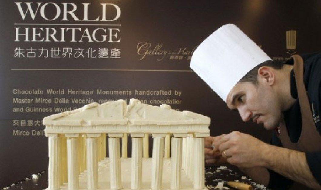 Ο Παρθενώνας, ο Πύργος της Πίζας, και άλλα μνημεία από.. λευκή σοκολάτα!! - Κυρίως Φωτογραφία - Gallery - Video