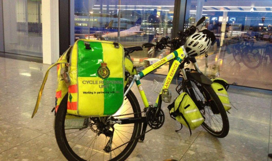 Φλούο ποδηλάτης σπεύδει για πρώτες βοήθειες στην Αγγλία - Κυρίως Φωτογραφία - Gallery - Video