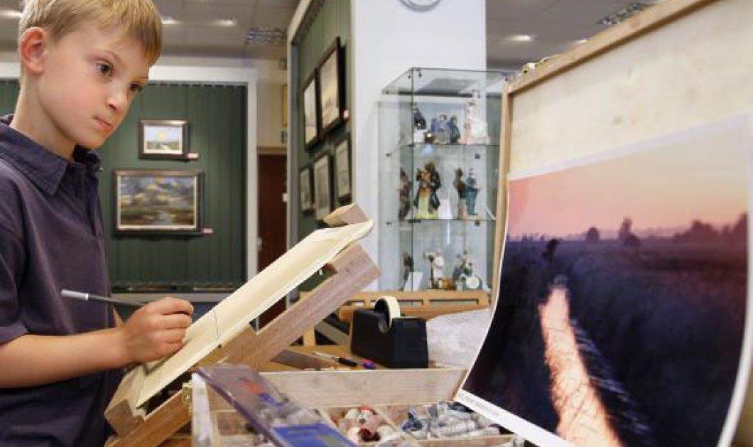 Εννιάχρονος ζωγράφος-ιδιοφυΐα ταράζει τον κόσμο της τέχνης - Κυρίως Φωτογραφία - Gallery - Video