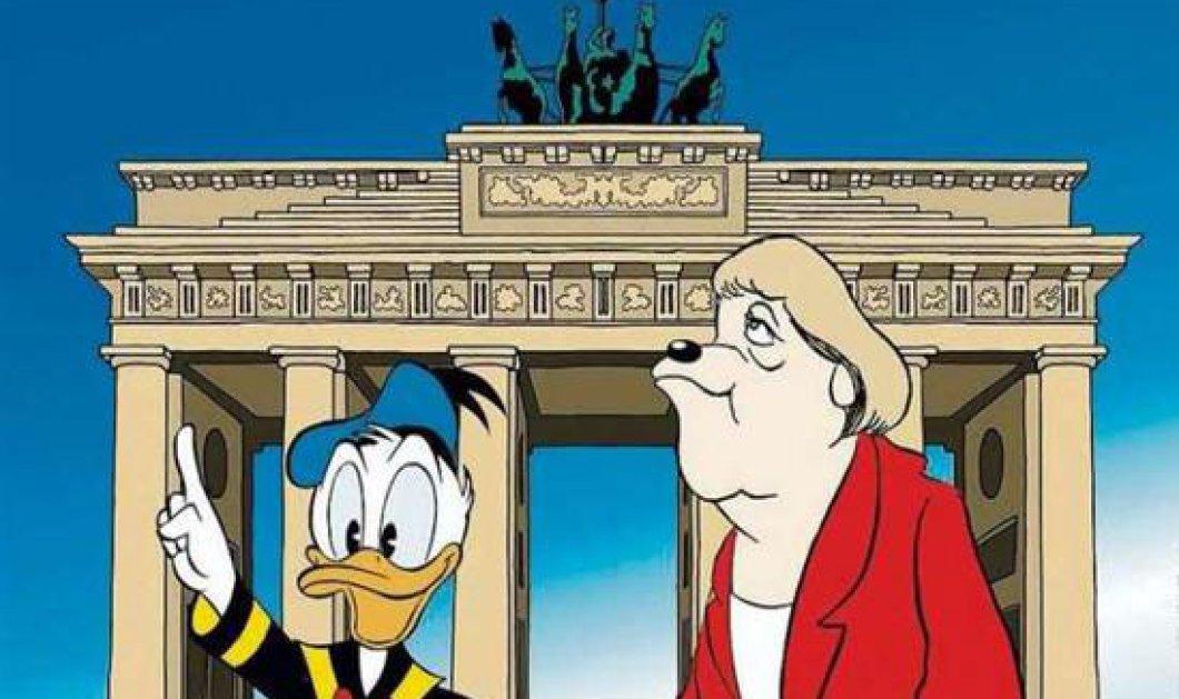 Όταν ο Ντόναλντ Ντακ συνάντησε τη Μέρκελ... - Κυρίως Φωτογραφία - Gallery - Video