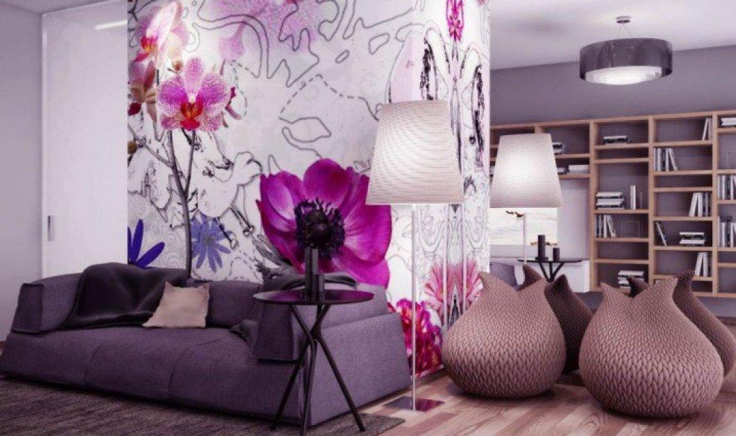 10 υπέροχα σαλόνια όπου η Άνοιξη εισέβαλε με floral prints και τα μετέτρεψε σε οάσεις χρωμάτων! - Κυρίως Φωτογραφία - Gallery - Video