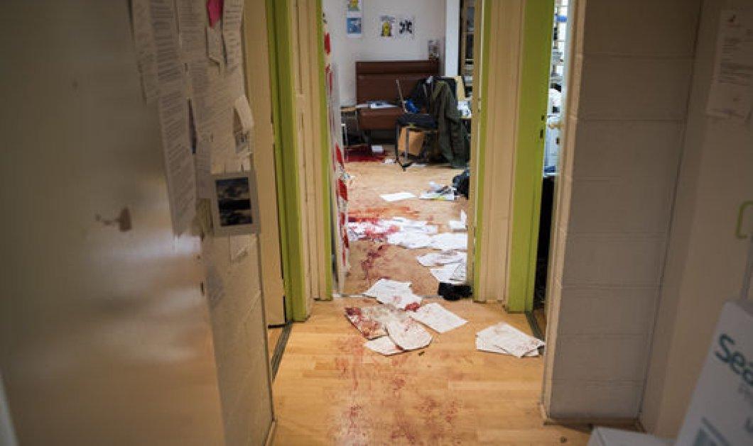 Οδύνη & οργή από τις πρώτες φωτογραφίες του εσωτερικού του Charlie Hebdo - Κυριάρχο το άλικο χρώμα του αίματος των θυμάτων - Κυρίως Φωτογραφία - Gallery - Video