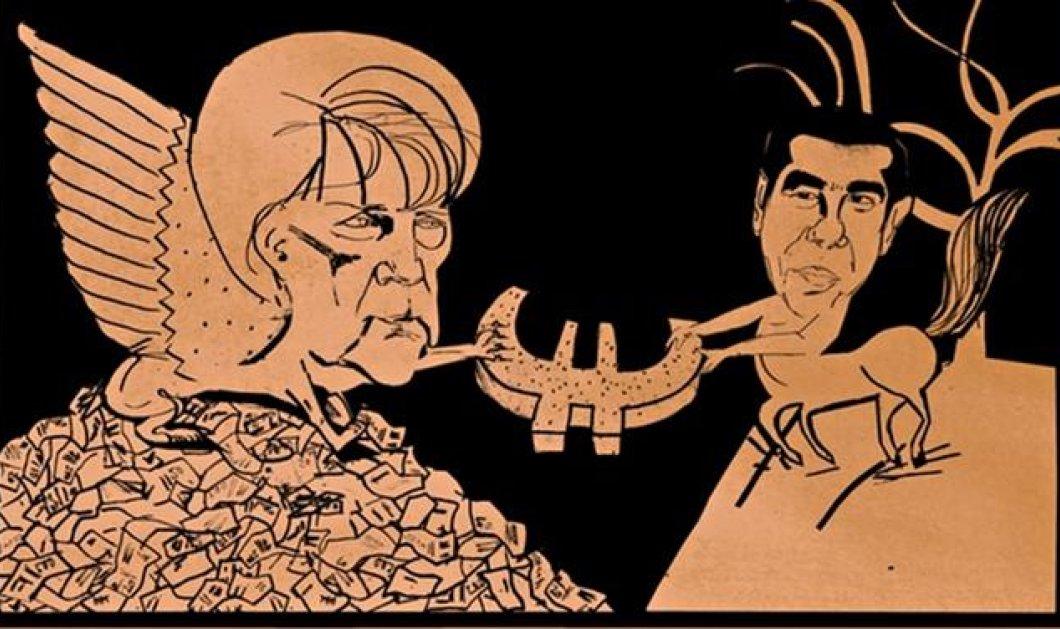 Greek mythos από τον Guardian: Ο Κένταυρος Αλέξης Τσίπρας και η... Σφίγγα Ανγκελα Μέρκελ! - Κυρίως Φωτογραφία - Gallery - Video