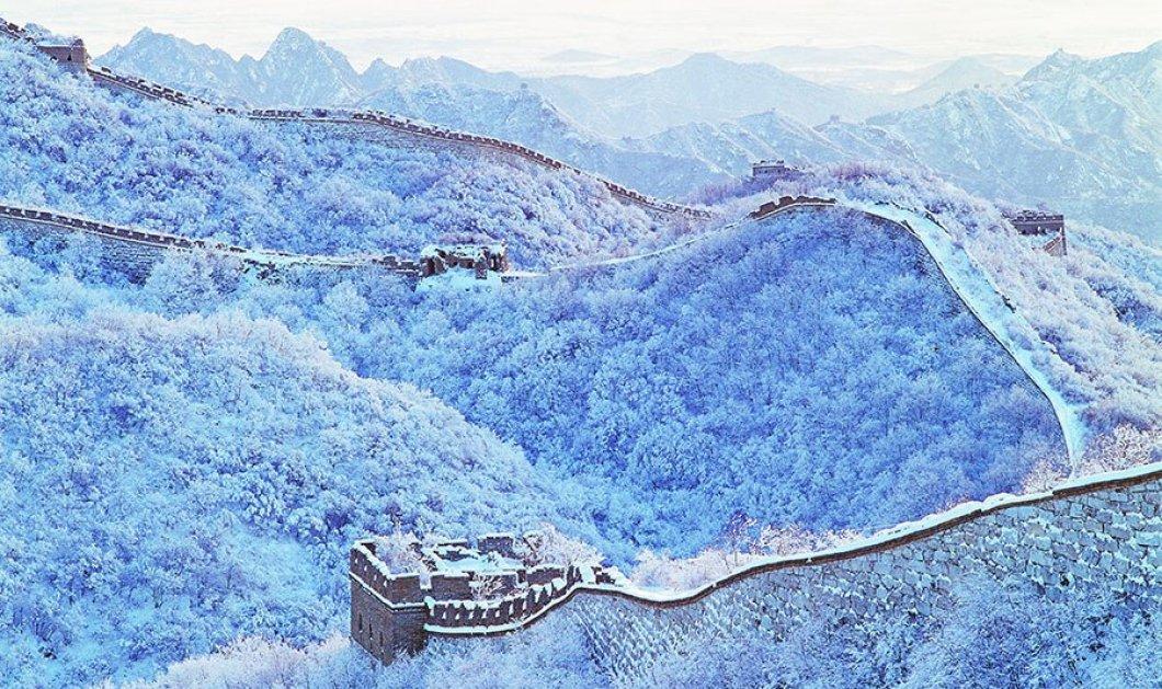 Πως είναι χιονισμένα 12 εμβληματικά αξιοθέατα ή μέρη στον κόσμο; Από το Σινικό Τείχος στο Λούβρο ή το Big Ben - υπέροχα! (slideshow) - Κυρίως Φωτογραφία - Gallery - Video