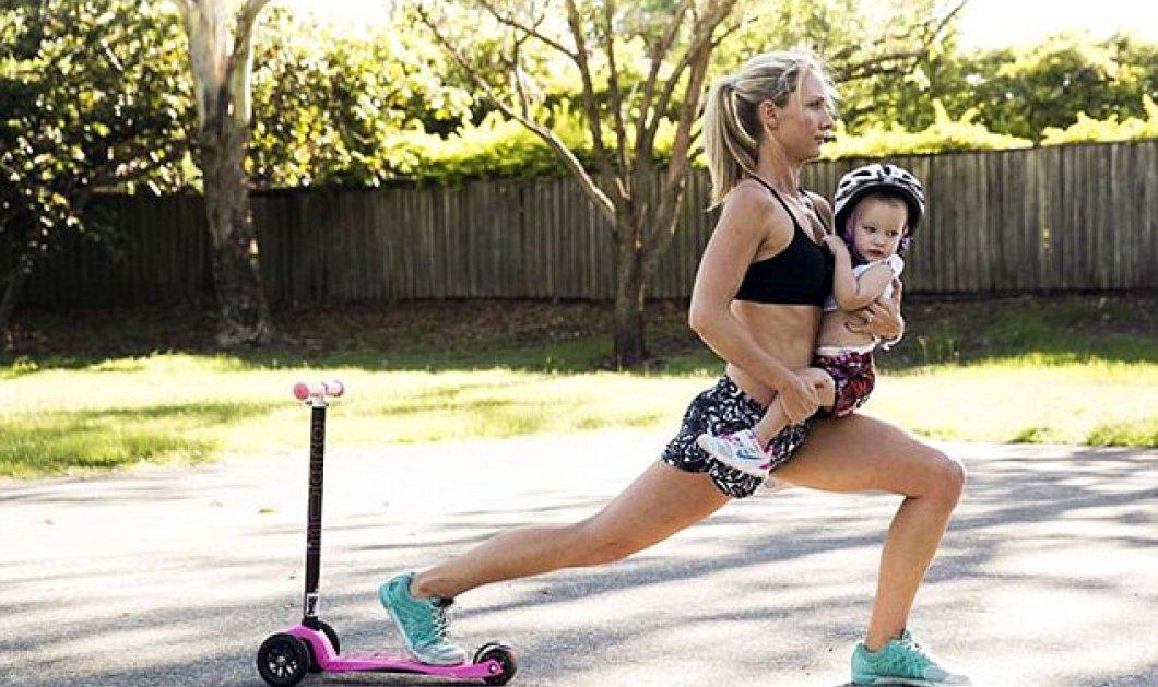 Την λένε Kimberley Welman και είναι η πιο fit μαμά στον κόσμο: Γυμνάζεται με όργανα το καρότσι και βαράκια τα μωρά της! (Φωτό - βίντεο) - Κυρίως Φωτογραφία - Gallery - Video