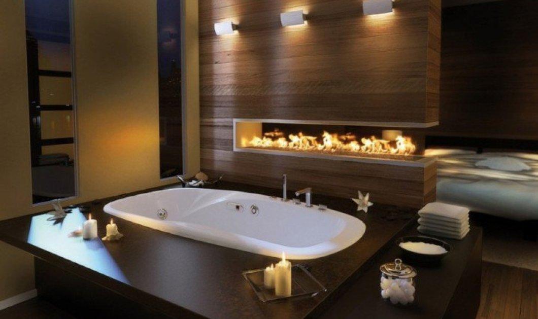 Πρωί πρωί σας βάζουμε ιδέες! 16 υπερπολυτελή μπάνια, τόσο ευρύχωρα που έχουν ακόμη και τζάκια για να ενισχύσετε την ρομαντική σας διάθεση κοιτάζοντας την φωτιά μέσα από το νερό! (φωτό)  - Κυρίως Φωτογραφία - Gallery - Video