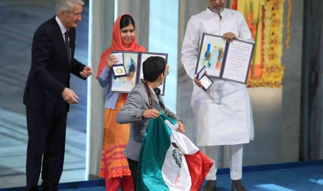 Επεισοδιακή η απονομή των Νόμπελ Ειρήνης στην 16χρονη Πακιστανή Μαλάλα και στον Ινδό συνήγορο των δικαιωμάτων των παιδιών - Κυρίως Φωτογραφία - Gallery - Video