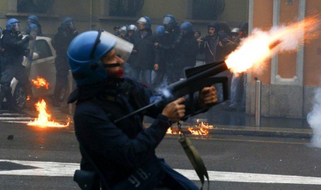 Φλέγεται το Μιλάνο: Συγκρούσεις & υλικές ζημιές κατά τη διάρκεια της Expo 2015! - Κυρίως Φωτογραφία - Gallery - Video