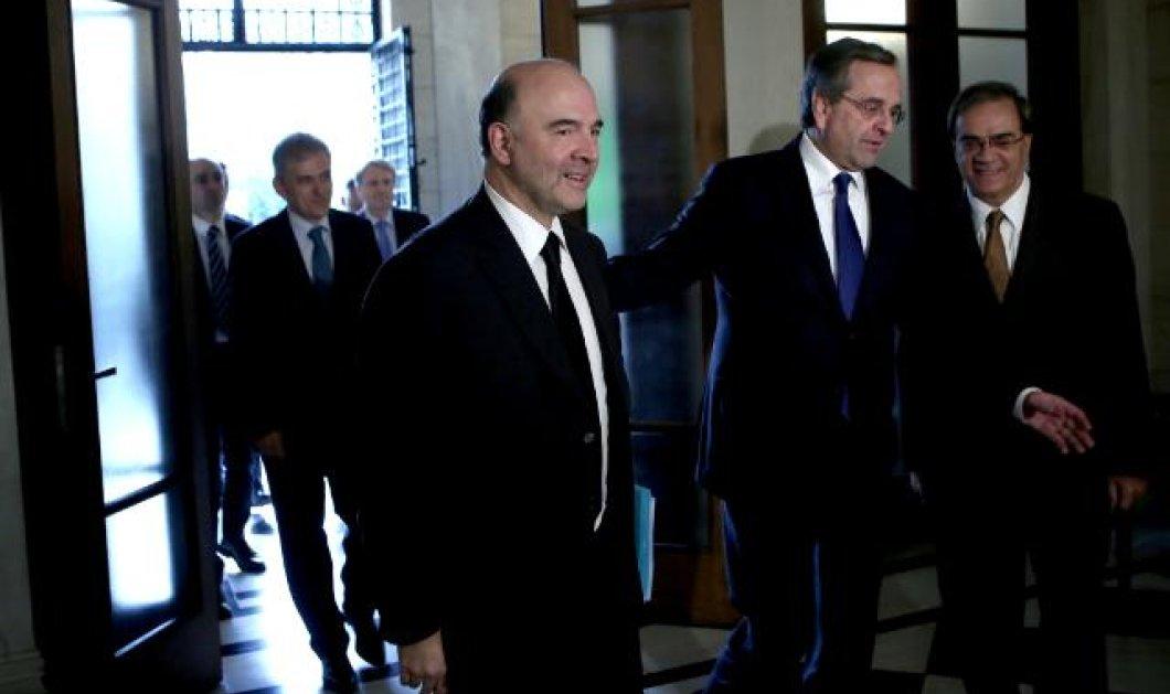 Π. Μοσκοβισί στον Α. Σαμαρά: «Θα ήταν κρίμα να βγείτε από το ευρώ - Δεν παρεμβαίνω στις εκλογές» - Κυρίως Φωτογραφία - Gallery - Video