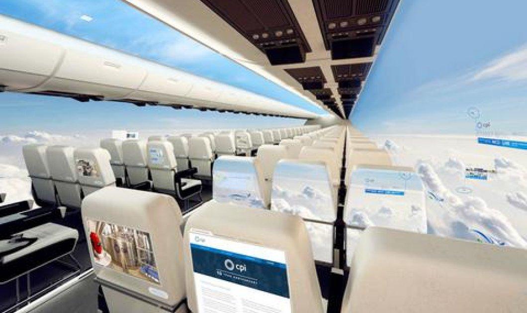 Χωρίς παράθυρα τα αεροπλάνα νέας γενιάς - Θα έχουν γιγάντιες οθόνες LED οι οποίες θα μεταδίδουν όμορφες εικόνες κατά τη διάρκεια του ταξιδιού! (βίντεο) - Κυρίως Φωτογραφία - Gallery - Video