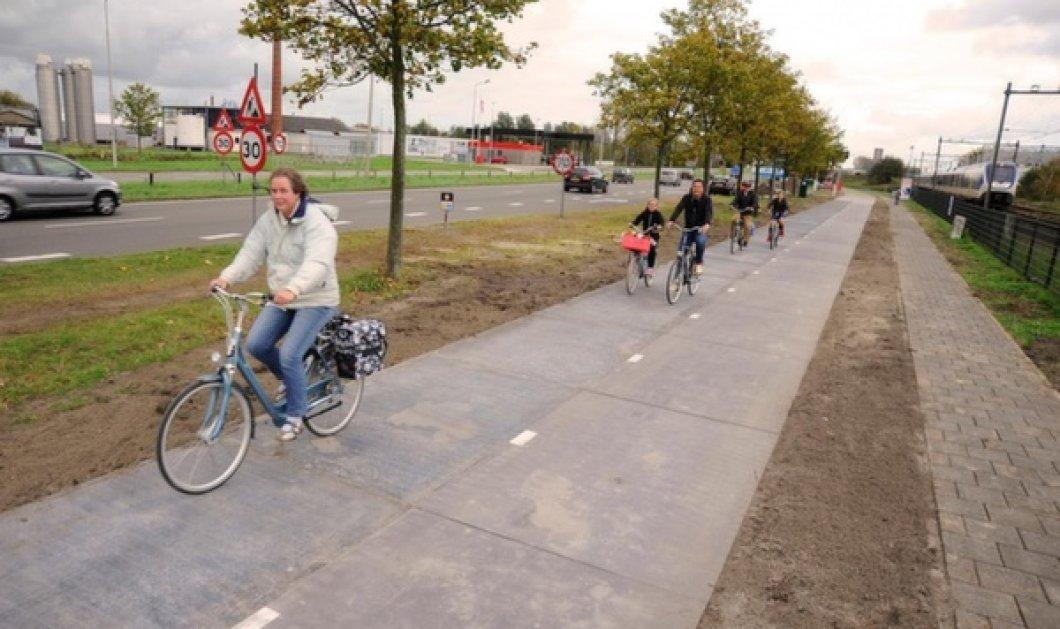 Aυτός ο ποδηλατόδρομος δεν μοιάζει με τους άλλους: Με ενσωματωμένα ηλιακά panels που παρέχει ηλεκτρισμό σε τρία σπίτια! (Φωτό) - Κυρίως Φωτογραφία - Gallery - Video