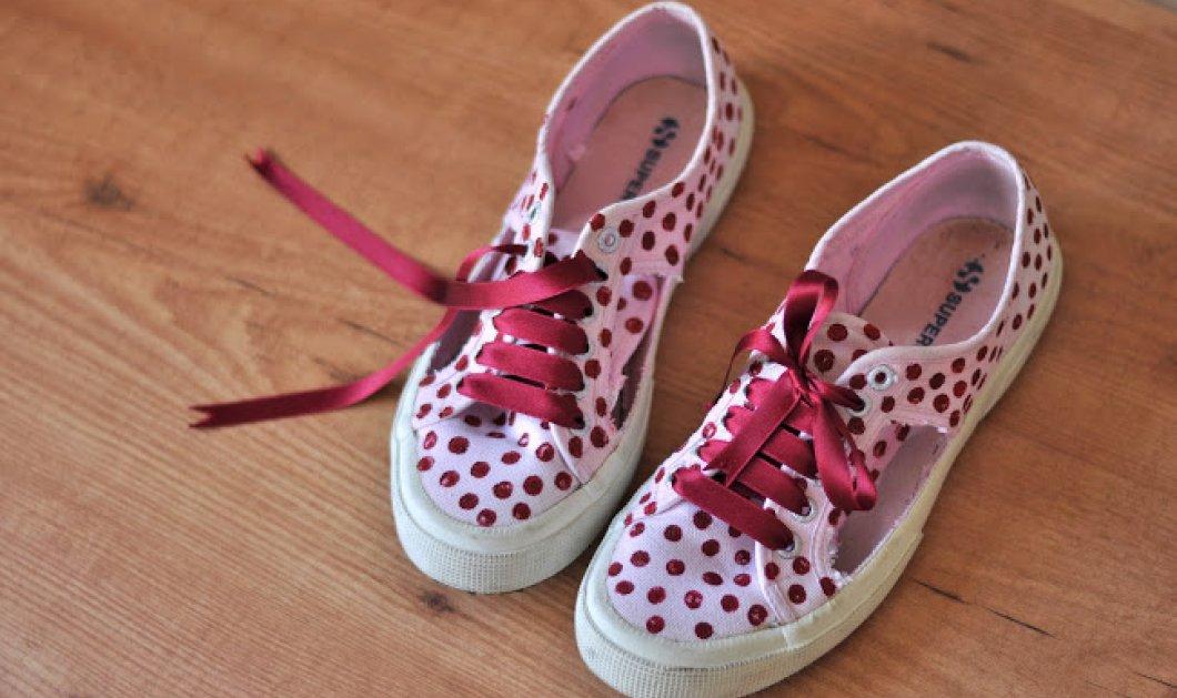 Πώς να φτιάξετε στο σπίτι τα πιο όμορφα ανοιξιάτικα πουά παπούτσια για μικρές αλλά & μεγάλες κυρίες! - Κυρίως Φωτογραφία - Gallery - Video