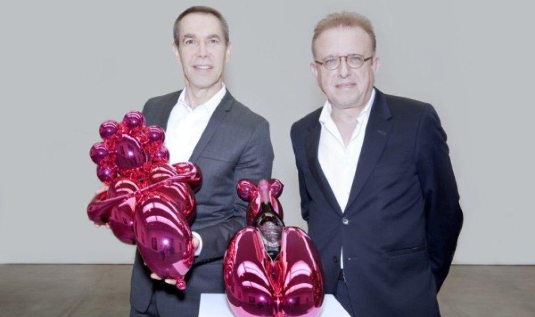 """Με αντίγραφα από τα εντυπωσιακά γλυπτά του """"έντυσε"""" ο Jeff Koons την διάσημη συλλεκτική σαμπάνια Dom Pérignon! - Κυρίως Φωτογραφία - Gallery - Video"""