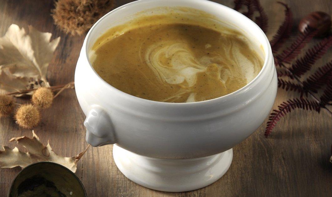 Μια συγκλονιστική σούπα κολοκύθας με κάστανα και τραγανή πανσέτα δημιουργεί το ταλαντούχο αγόρι της κουζίνας, Άκης Πετρετζίκης! - Κυρίως Φωτογραφία - Gallery - Video