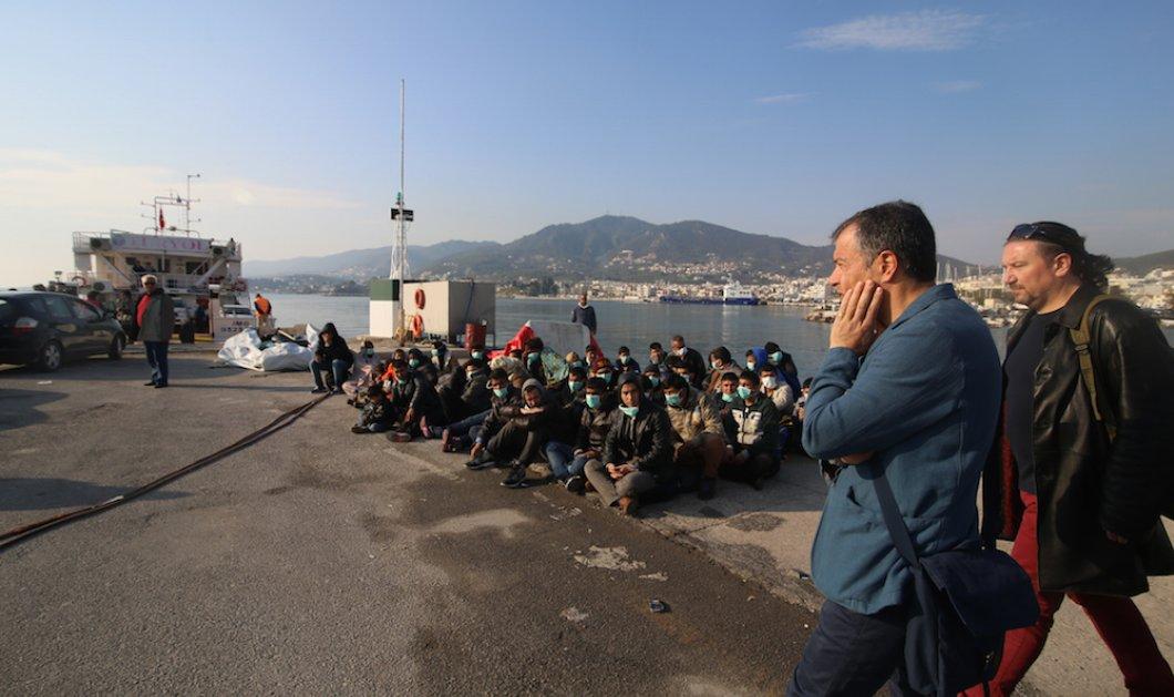 Εικόνες της Μυτιλήνης που ''βουλιάζει'' από μετανάστες - Επίσκεψη του Σ. Θεοδωράκη στο νησί της υποδοχής! - Κυρίως Φωτογραφία - Gallery - Video