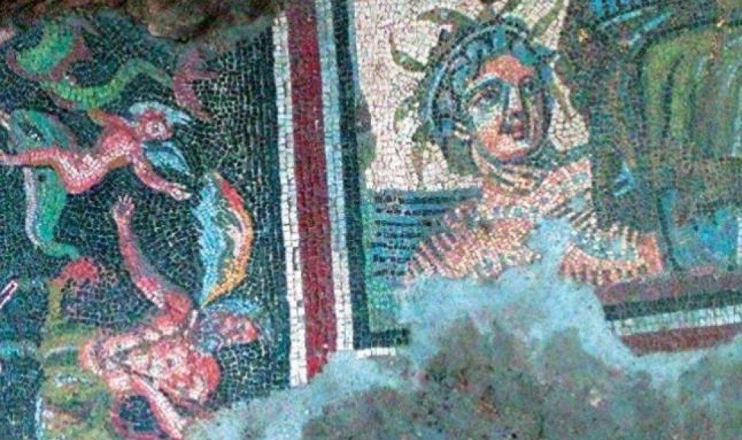 Διδυμότειχο: Αποκαλύφθηκε θεσπέσιο ψηφιδωτό σαν Ρωμαϊκό spa με έρωτες, δελφίνια, νηρηίδες που ιππεύουν μυθικά όντα! (φωτό) - Κυρίως Φωτογραφία - Gallery - Video