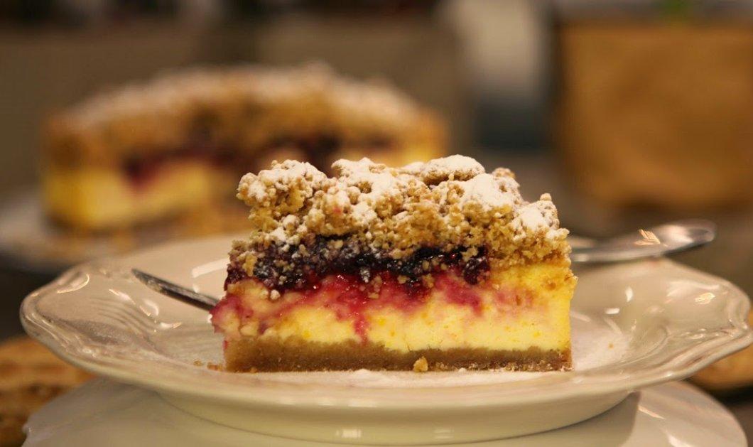 Tούρτα με κρέμα τυριού και φρούτα του δάσους από τον εξαιρετικό Στέλιο Παρλιάρο! (Βίντεο) - Κυρίως Φωτογραφία - Gallery - Video