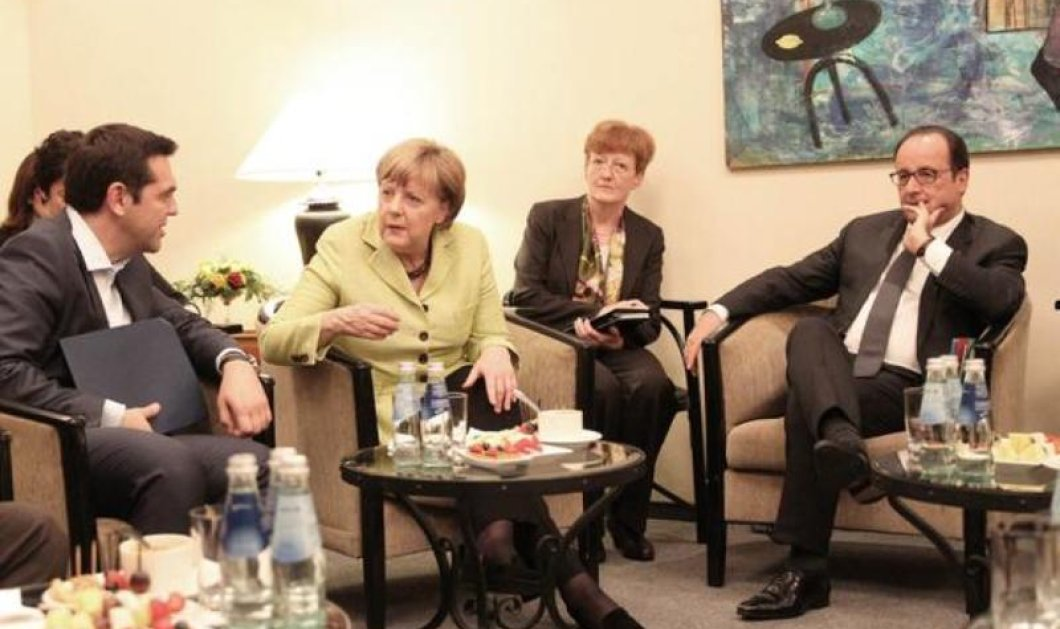 Σε καλό κλίμα η τηλεδιάσκεψη Τσίπρα με Μέρκελ & Ολάντ - Θα συναντηθούν στις Βρυξέλλες την Τετάρτη - Κυρίως Φωτογραφία - Gallery - Video