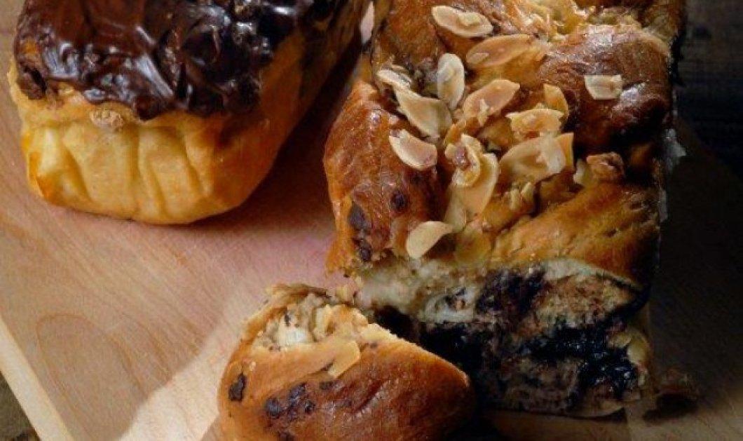 Φτιάξτε τα πιο λαχταριστά γεμιστά τσουρέκια με σοκολάτα και αμύγδαλα! Πιο νόστιμα δεν έχετε ξαναφάει! - Κυρίως Φωτογραφία - Gallery - Video