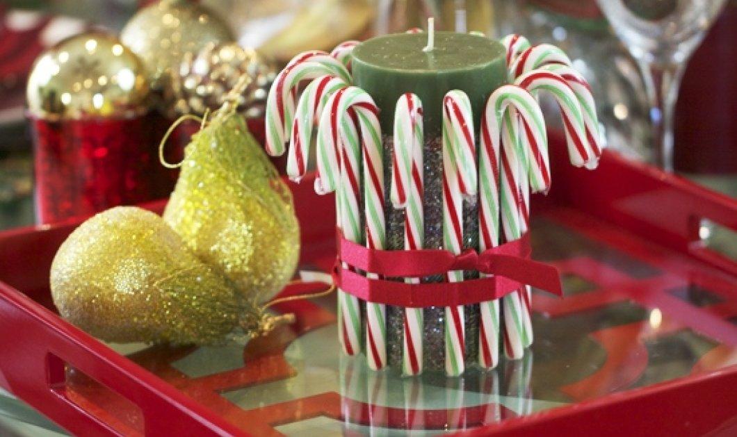 10 πρωτοποριακές & ευφάνταστες ιδέες για Χριστουγεννιάτικη διακόσμηση με... γλειφιτζούρια! Δικές σας! - Κυρίως Φωτογραφία - Gallery - Video
