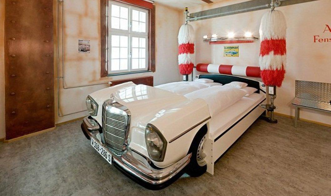 Έχετε κοιμηθεί σε κρεβάτι με σχήμα αεροδυναμικού ή vintage αυτοκινήτου; Πως θα σας φαινόταν κρεβάτι για ύπνο ή έρωτα με ταχύτητες Mercedes ή Porsche; (φωτό) - Κυρίως Φωτογραφία - Gallery - Video