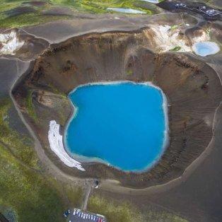 Από ψηλά ο κρατήρας Viti του ηφαιστείου Krafla στην Ισλανδία - Φωτογραφία: Enrico Pescantini/Rex/Shutterstock - Κυρίως Φωτογραφία - Gallery - Video