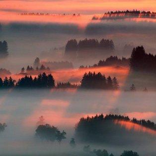 Ονειρικό στιγμιότυπο από την ανατολή του ηλίου στην Bernbeuren της Γερμανίας - Φωτογραφία: REUTERS / DOMINIC EBENBICHLER - Κυρίως Φωτογραφία - Gallery - Video