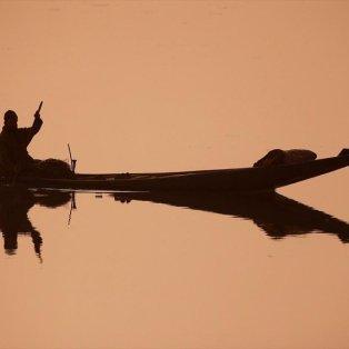Ψαράς διασχίζει τα νερά της λίμνης Νταλ ένα κρύο πρωινό στη Σριναγκάρ, στην Ινδία - Φωτογραφία: REUTERS / DANISH ISMAIL - Κυρίως Φωτογραφία - Gallery - Video